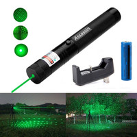 Wholesale Focus Pens - 10Mile Burning Green Laser Pen Pointer 5mw 532nm Cat Toy Military Powerful Laser Pen Adjust Focus+18650 Battery+ Charger