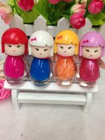 Wholesale Nude Dolls - Cartoon doll head seven princess nail polish environmental protection is not easy to fall off quick drying Nude nail wholesale + gift