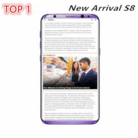 Wholesale Unlocked Cell Phones Tv - 2017 Original unlocked Goophone S8 Plus Fingerprint Show 4G LTE Octa core 64GB Rom smart Phone 1920*1080 FHD 8MP Android Cell Phone