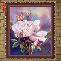 YGS-337 DIY 5D Diamond borda as flores bonitas Round Diamond Painting Cross Stitch Kits Diamond Mosaic Home Decoration
