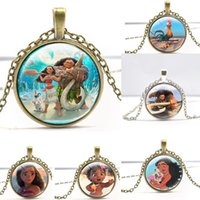 Wholesale Girls Kids Necklaces - Babies Moana Necklace 2017 childrens Jewerly Cartoon Marine Romance Girl Necklace Kids Party Accessories Fashion Gifts