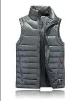 Wholesale Warmest Womens Ski Jacket - 2017 Brand Womens mens Duck Down Vest Jackets High Quality Casual Sports Hooded Ski Warm Parkas Coats Suits Black White Size S M L XL XXL