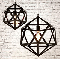 Wholesale 110v v Industrial Vintage Ironwork Edison Ceiling Lamp Pendant RH Loft Metal Cage Light Light