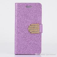 elmas çevir cüzdan toptan satış-Motorola moto e4 için LG Stylus 3 Stylo 3 Artı Cüzdan kılıf Glitter Bling Flip PU Deri Elmas Taklidi kılıfı Kapak D