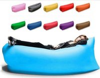 Multi-colored outdoor bean bag furniture - Lounge Sleep Bag Lazy Inflatable Beanbag Sofa Chair Living Room Bean Bag Cushion Outdoor Self Inflated Beanbag Furniture Camp Furniture