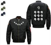 Wholesale Men Army Uniform Coat - Fashion new Anime Naruto Ootutuki Hagoromo Spring hot Men Bomber Jacket print coat men's baseball uniform USA size