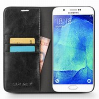 Wholesale Vintage Slim Cards - Vintage Leather Case For Samsung Galaxy A8 Flip Cover Card Holder Ultra Slim Case for galaxy a8