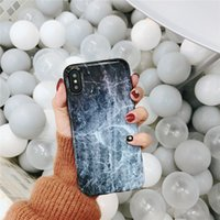piel protectora de teléfono celular al por mayor-Creative Soft Tpu IMD Marble Skin Case para iPhone X Fundas protectoras Cell Phone Contraportada