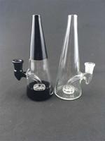 ingrosso prezzi del tubo olio-Nuovi prezzi di fabbrica di stile Botti di rig inebrianti Tubi di vetro per fumatori Vetro colorato BongBig Beaker Oil Rig 14mm Glass Bowl Black