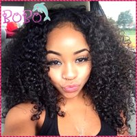 Wholesale Curly Lace Wigs Bangs - Best Quality Mongolian Kinky Curly Hair Lace Front Human Hair Wigs Full Lace Human Hair Wigs With Bangs 130% Curly Lace Wig