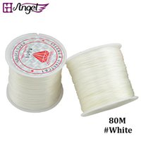 Wholesale Elastic Beading Cord - GH Angel Jewelry string cord 80M Nylon Cord Elastic Beads Cord Stretchy Thread String For DIY Jewelry Making Beading Wire Ropes