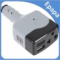Wholesale 12 24v Converter - Wholesale- 8.25 Promotion! DC 12   24V to AC 220V   USB 6V Car Mobile Power Converter Inverter Car Adapter Lowest Price!