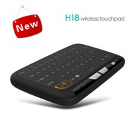 Wholesale Mini Keys Keyboard - H18 2.4GHz Mini Wireless Ergonomic Keyboard 70 Keys With Touchpad Mouse Combo Touch Gestures Control For PC Xbox 360 Smart TV 1pcs