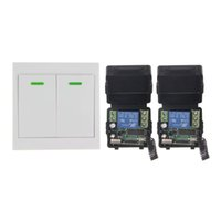 Mini DC 12V 1CH 1CH 10A RF Wireless Controle Remoto Switch System, (2 receptores + 86 Transmissor Painel de Parede), 315 / 433.92, Toggle