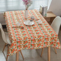 Wholesale Fashion Tablecloths Pumpkin Hallowen Day Pattern Dinner Picnic Table Cover Various Size For Choosing Cotton Liene Materials