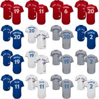Wholesale Toronto 19 - 2017 custom Men's women Youth Toronto Blue Jays 2 Tulowitzki 20 Josh Donaldson 19 Bautista 11 Pillar Stroman Osuna 6 Smoak baseball jerseys