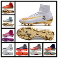 Wholesale Light Beige Boots For Women - 2017 Mens Women Kids Soccer Boots Mercurial Superfly CR7 FG Soccer Cleats Youth Cristiano Ronaldo Football Boots Shoes Forged for Greatness