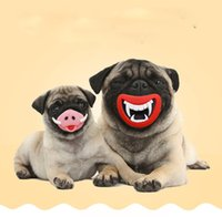 2 Style Safe Funny Squeak Dog Toys Devil's Lip Pig Nose Sound Dog Jouer Jouets Puppy Chewing Toys pour Halloween Noël
