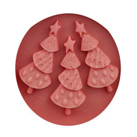 Wholesale Silicone Christmas Tree Cake Molds - NICE 3-Hole DIY Christmas Trees Cake Molds Fondant Chocolate Silicone Mold Candy Moulds Cake Tools SGS Certified 100pcs Free DHL Fedex