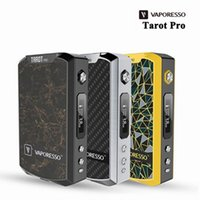 Wholesale Electronic Cigarette Sub - Wholesale- Original Vaporesso Tarot Pro Box Mod Vape 160W VTC VT&VW Modes Electronic Cigarette Vaporizer Support Sub ohm Tank Atomizer