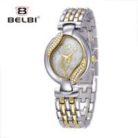 Wholesale Brand Luxury Watches Women - BELBI Women Watches Japan Quartz Movement for Ladies Luxury Alloy Women Wristwatches Life Waterproof Watch China Brand