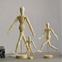 Wholesale Wooden Toy Joints - Anime Peripherals Model Joint Man Toy Ornaments Wooden Models Art Sketch Draw Action Figures Movable Hand Decoration Gift 26wy H1