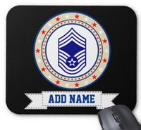 Wholesale Air Force Computer - Rectangular non-slip natural rubber mouse mat air force chief master sergeant e-9 cmsgt computer accessories office supplies mouse pad