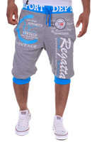 ingrosso corti pantaloni da jogging-Pantaloni Capri Uomo Pantaloni estivi Pantaloni corti Casual Pantaloni da uomo Lettera Stampate Palestre Pantaloni Taglie M-2XL