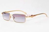 Wholesale Eyeglass Frames For Girls - Fashion Brand Sunglasses For Women Mens Full Rim Leopard Gold Eyeglass Frame Fashion Plain Glasses Metal Buffalo Glasses lunette de soleil