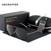 Wholesale Drop Sunglasses - Wholesale- 2017 HDCRAFTER Classic Design Polarized Sunglasses Men with UV400 Protection Brand in High Quality oculos de sol Drop Shipping