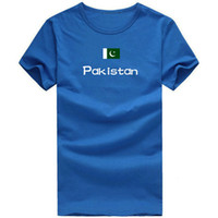 Men sports pakistan - Pakistan T shirt Competitor sport short sleeve Cheer quality tees Nation flag clothing Unisex cotton Tshirt