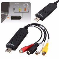 Wholesale Audio Vcr - USB1.1 2.0 Video Capture Card TV Tuner VCR DVD Audio Adapter Converter Connector for Win 10 NTSC Video Game on PC