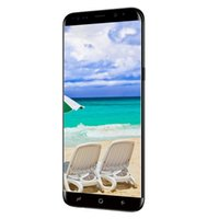 Wholesale Unlocked Cell Phones Tv - Goophone S8+ Screen curved cell phone Quad core MTK6580 5.7inch fake 4G lte Android 1G 4G show 64GB unlocked phone