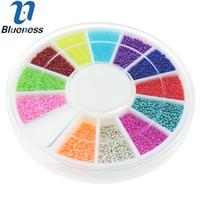 projetos da roda de prego venda por atacado-Atacado-12 cores Roda Nail Art Tools Magia Doce Cor Design Caviar Beads Manicure Microbeads Decorações ZP224