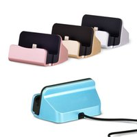 Wholesale Dock Station Android - Quick Dock Chargers Stand Station Cradle Charging Sync Docking For Samsung S6 S7 Edge Note 5 Android For Type-c iPhone 7 Plus