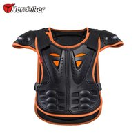 Wholesale Armor Shoulders - HEROBIKER Kids Armor Motocross Racing Jackets Child Skiing Skating Spine Shoulder Chest Guard Mesh cloth fit 4~10 year olds