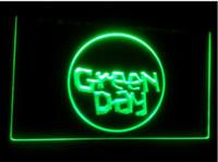 neon grün geführt bar licht großhandel-B111 Green Day Band Bier Bar Pub 3D Zeichen LED Neonlicht-Zeichen Wohnkultur Handwerk