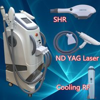 Wholesale Rf For Face Skin - SHR machine ND YAG Laser permenent hair removal machine new laser for tattoo removal rf vacuum skin lifting
