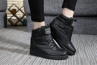 Wholesale Winter Closed Heels - New 2017 spring autumn ankle boots heels shoes women casual shoes height increased high top shoes mixed color Winter boots NVX13