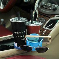 Wholesale Multi Function Sunglasses - 2017 New Multi Function Auto Car Drink Holder Storage Box Cup Seat Car Phone Holder Sunglasses Storage Box for Car Organizer