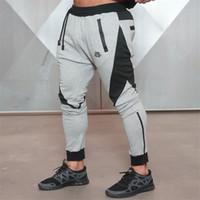 456686e6bb30d5 All'ingrosso-2016 nuovi pantaloni sportivi di medaglia d'oro di forma  fisica, pantaloni da jogging di fitness da uomo in cotone elasticizzato  Body Engineers ...