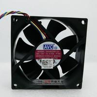 servidor avc fan al por mayor-Envío gratis NUEVO para AVC DS08025R12U Server Square Ventilador de refrigeración DC 12V 0.7A 80x80x25mm 4 pines