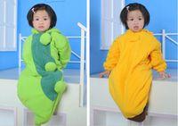 Wholesale Chilli Sleeping Bag - 6styles-Newborn Baby sleeping bag caterpillar pea banana penguin chilli Pumpkin sleeping bags WD207
