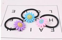 Wholesale Hair Tie Korea - South Korea new smiley face hair rope rubber bandener simple and lovely children hair ring tie rope