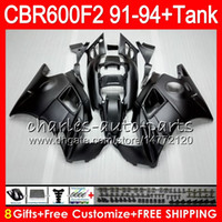 Wholesale Honda Cbr F2 Fairings - matte black 8 Gifts 23 Colors For HONDA CBR600F2 91 92 93 94 CBR600RR FS 1HM5 CBR 600F2 600 F2 CBR600 F2 1991 1992 1993 1994 black Fairing