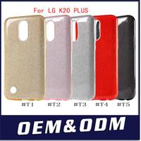 Wholesale Glitter Stylus - For LG K20 PLUS V5 LV5 lg Aristo LV3 V3 Stylo 3 stylus 3 TPU PC Hybrid Shining Bling Glitter Case Protective Cover