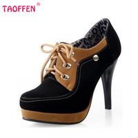 Wholesale Eur 42 - Wholesale-Women High Heel Half Short Ankle Boots Office Winter Snow Boot Sweet Quality Footwear Warm Botas Shoes P6843 EUR Size 34-42
