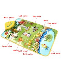 Wholesale Learning Walking Toys - Happy Farm Music Carpet Mat Exercise Baby Crawling Walking Hearing Vision Touching Early Learning Funy Toy For Kids Happy Farm