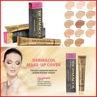 Wholesale Make Up Free Shipping Dhl - Dermacol Base Make up DERMACOL Makeup Cover Extreme Covering Foundation Hypoallergenic Waterproof 30g Concealer 14 color DHL free shipping