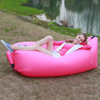 Wholesale Portable inflatable sofa bed outdoor lazy sofa bag air single sleeping bag easy lunch bed